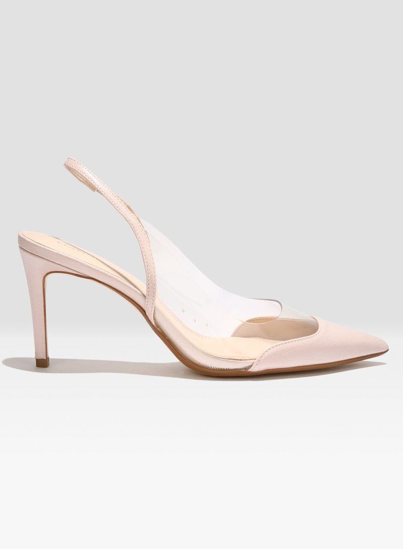 Shop MANGO Perspex High Heel Pumps Pink
