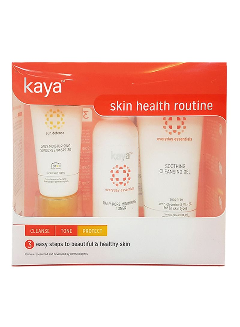 Shop Kaya Skin Clinic 3-Piece Skin Health Routine Kit - Cleanse, Tone And  Protect online in Dubai, Abu Dhabi and all UAE
