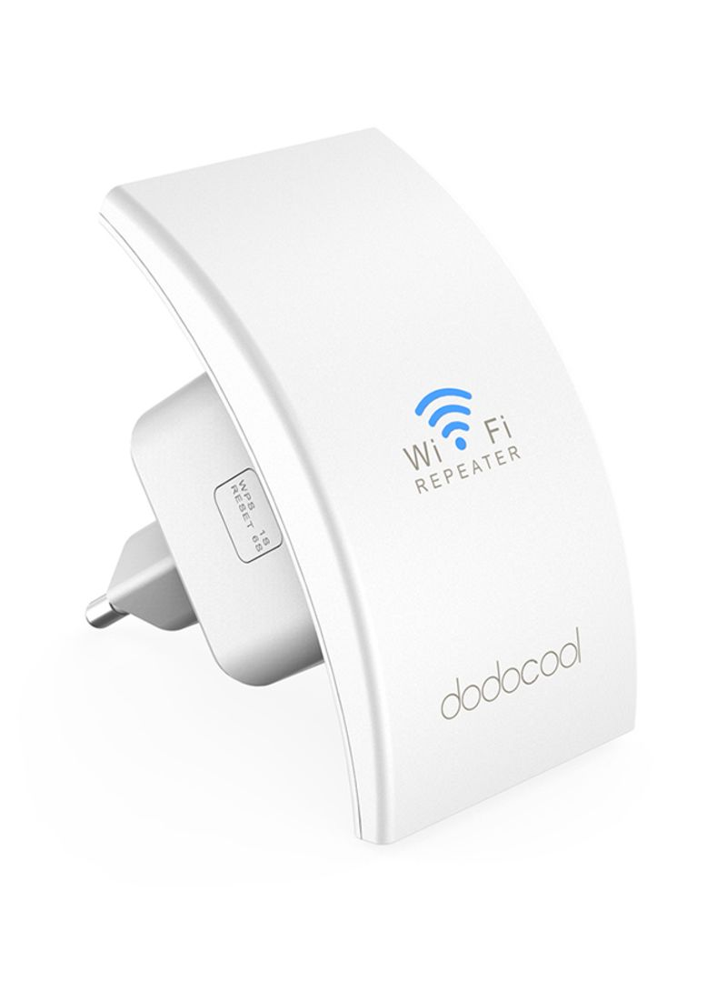 Shop dodocool Wireless Range Extender With Dual Integrated Antennas 300  Mbps White online in Dubai, Abu Dhabi and all UAE