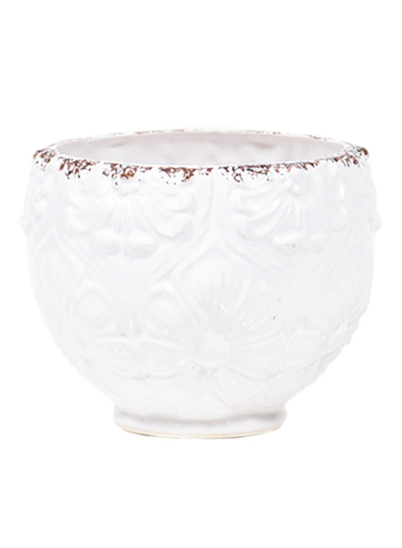 Shop The Little Green House Round Ceramic Vase White Small Online