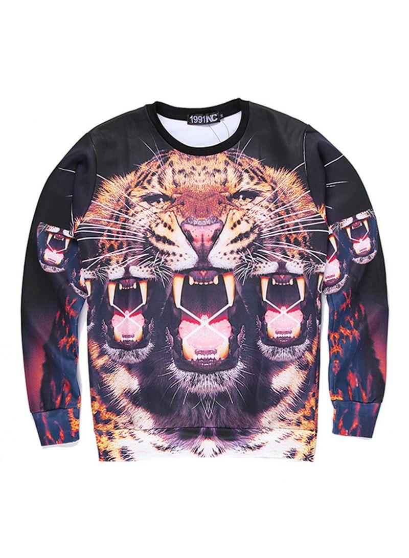 5b2c467b9781 Shop Mr.1991INC Miss.GO 3D Tiger Printed Long Sleeves Sweatshirt ...