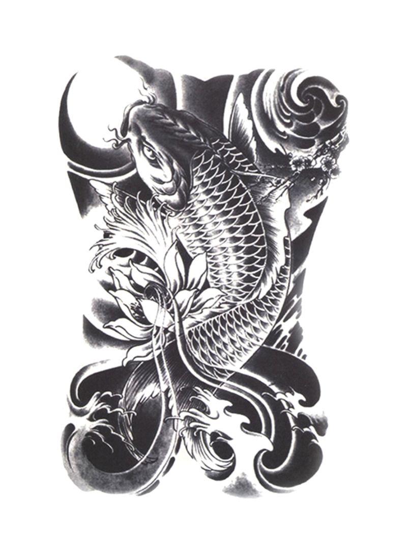 Shop 3d Flash Waterproof Temporary Body Art Tattoo Sticker Black Online In Egypt