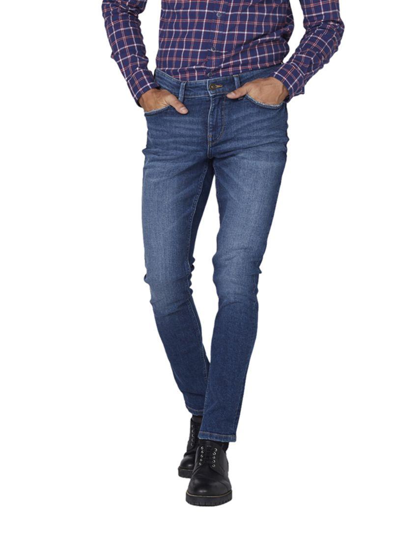ea9cd807 Shop Lee Cooper Skinny Fit Denim Jeans Blue online in Dubai, Abu ...