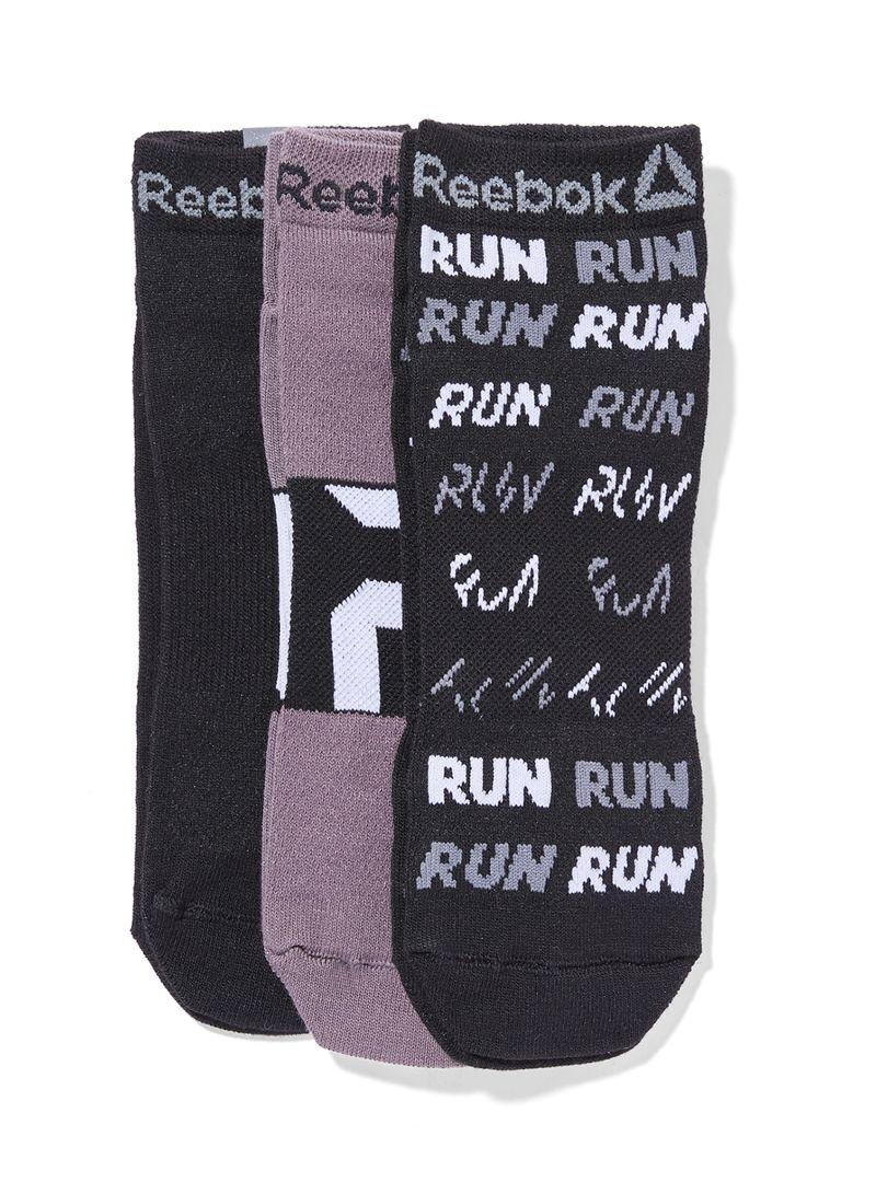 Shop Reebok Pack Of 3 Running Club Socks Black Black Shark online in ... e8ccbcc6f