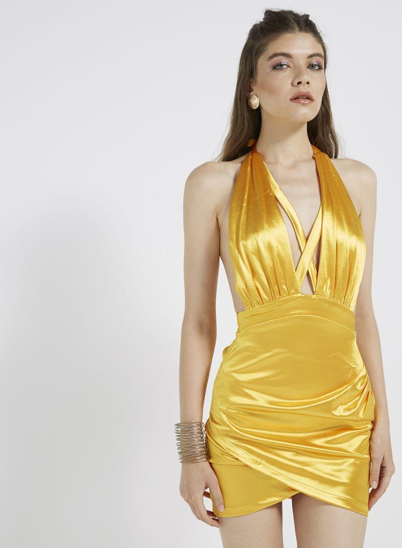 Shop I Saw It First Backless Bodycon Dress Honeydew online in Dubai ... 5bd0b87d2