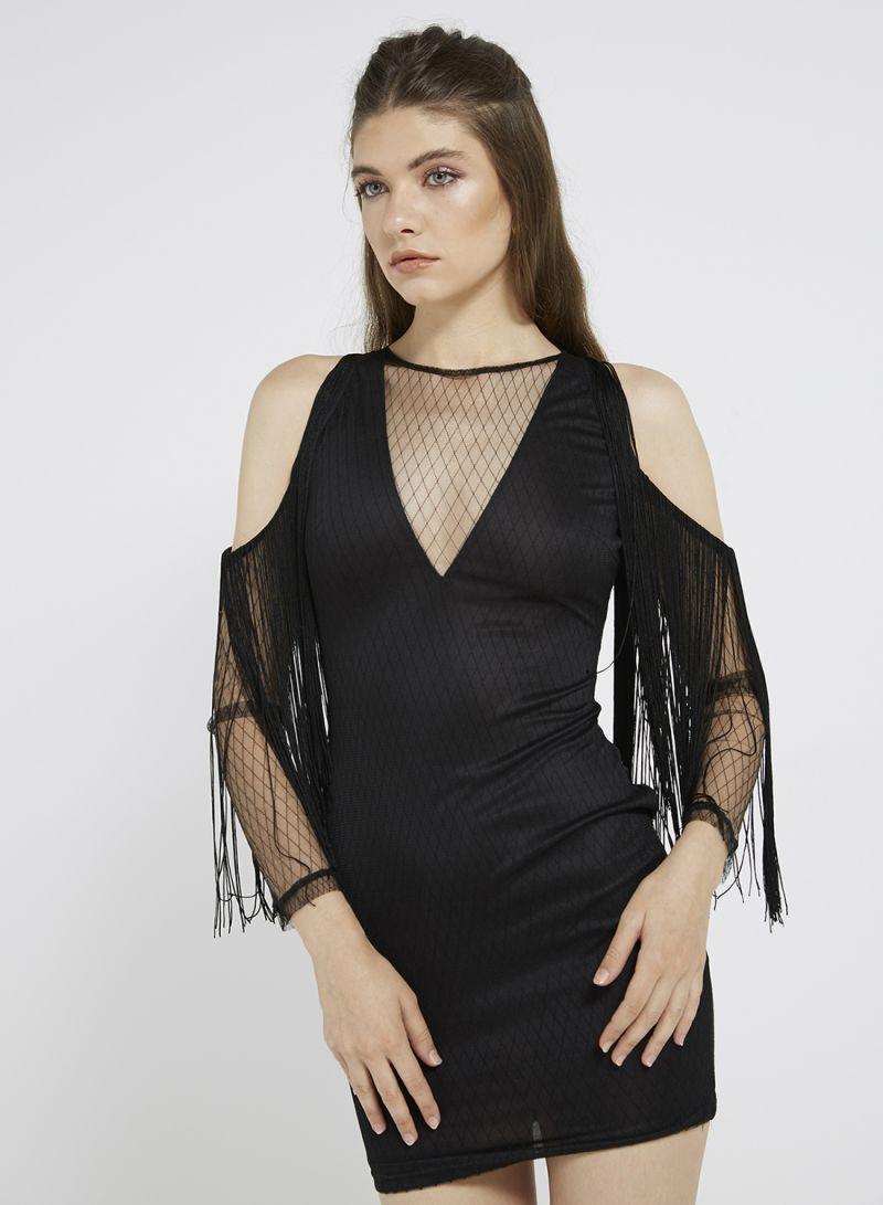 Shop I Saw It First Unique Accent Mini Dress Black online in Dubai ... 98fe94ac9