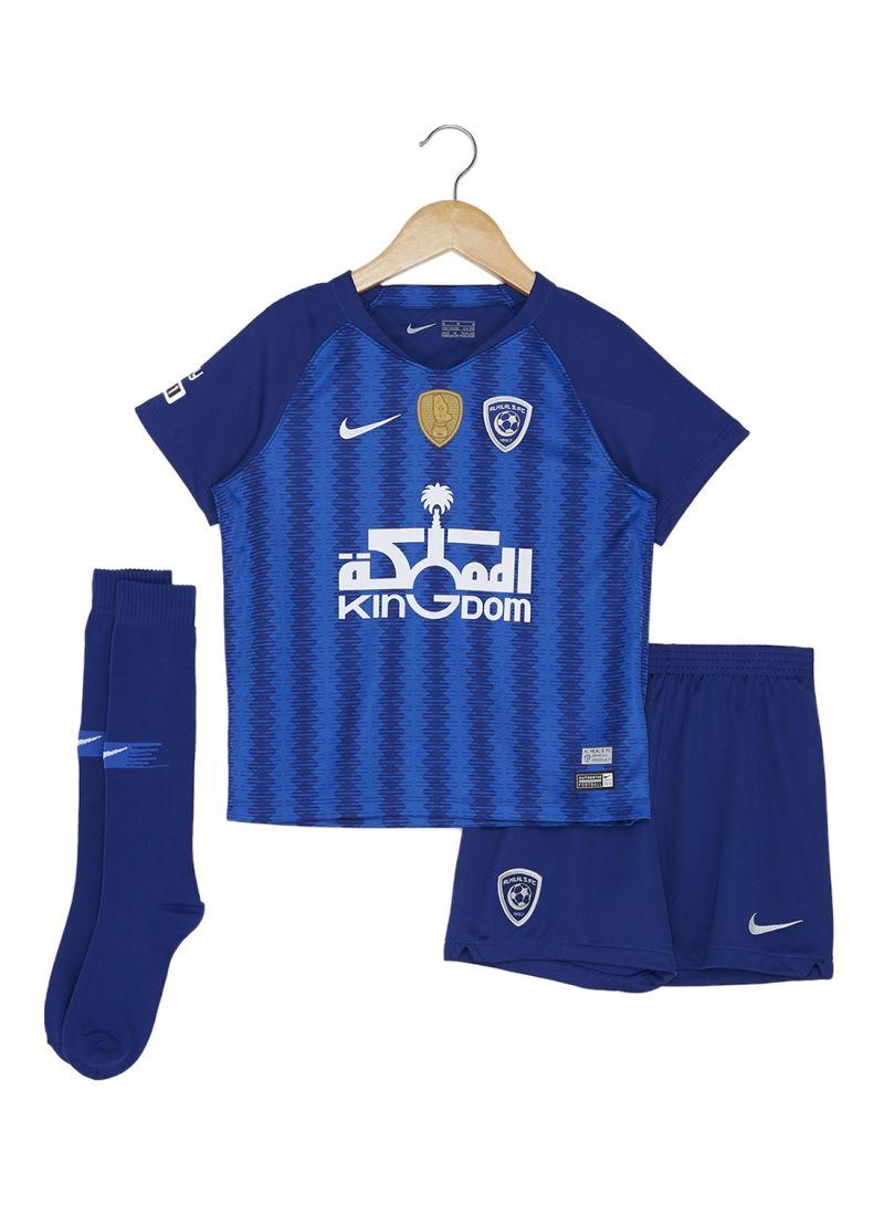 Shop Nike Al Hilal Kids Home Kit - 2018 19 Deep Royal Blue online in ... 07d5968a111