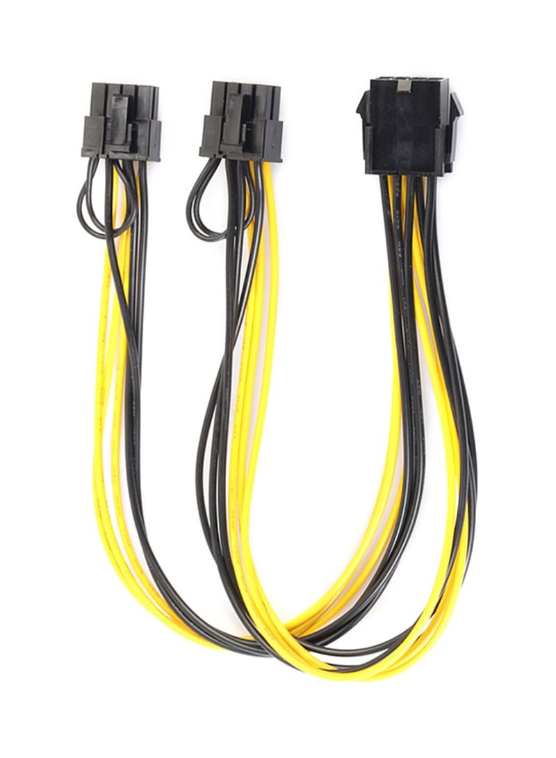 Shop Vander Life 8-Pin To Double 8 Pin Graphics Card Power Supply Cable  Black/Yellow 6 inch online in Dubai, Abu Dhabi and all UAE