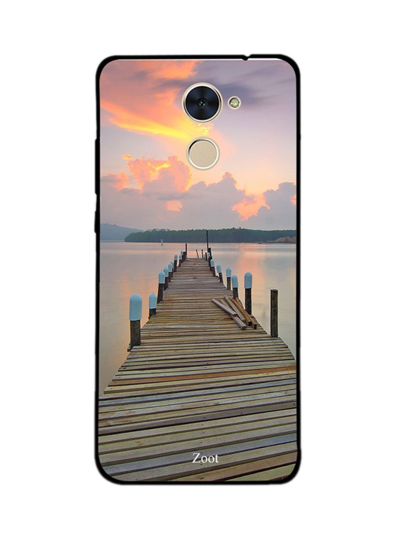 Shop Zoot Thermoplastic Polyurethane Protective Case Cover For Huawei Y7  Prime Sea Way Wooden online in Dubai, Abu Dhabi and all UAE