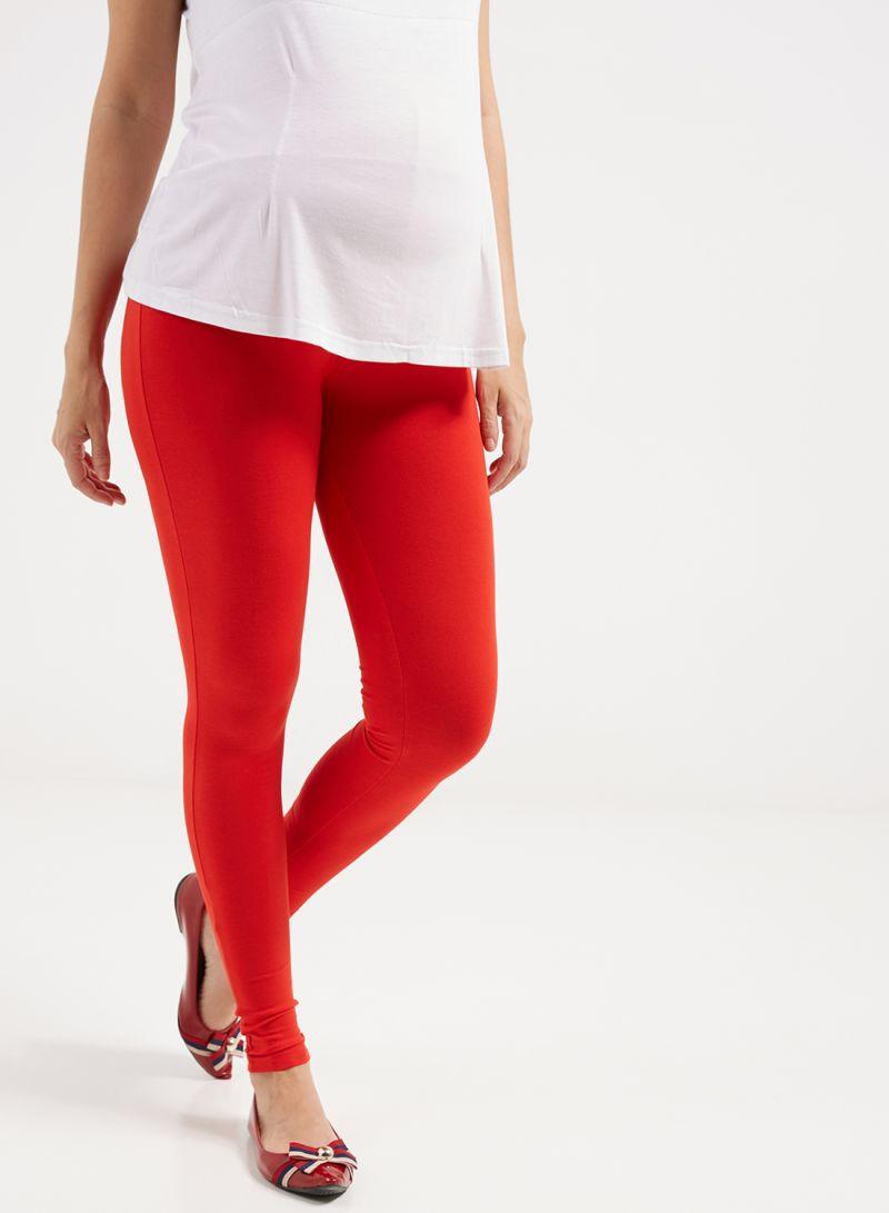 e62bd22edbf1f Shop mother's nest Maternity Cotton Leggings Red online in Dubai ...