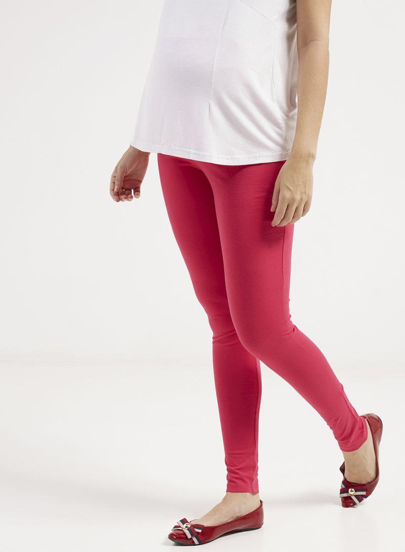 b74a409436df9 Shop mother's nest Maternity Plain Leggings Pink online in Dubai ...