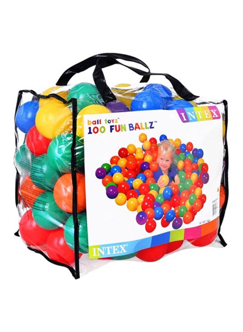 100-Piece Fun Ball For Kids 8 centimeter