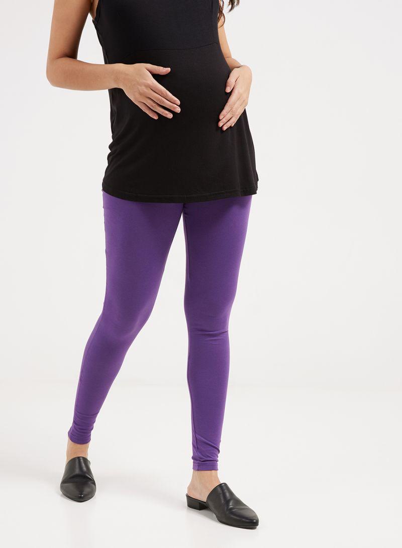 9f330d7ad3b65 Shop mother's nest Maternity Plain Leggings Purple online in Dubai ...