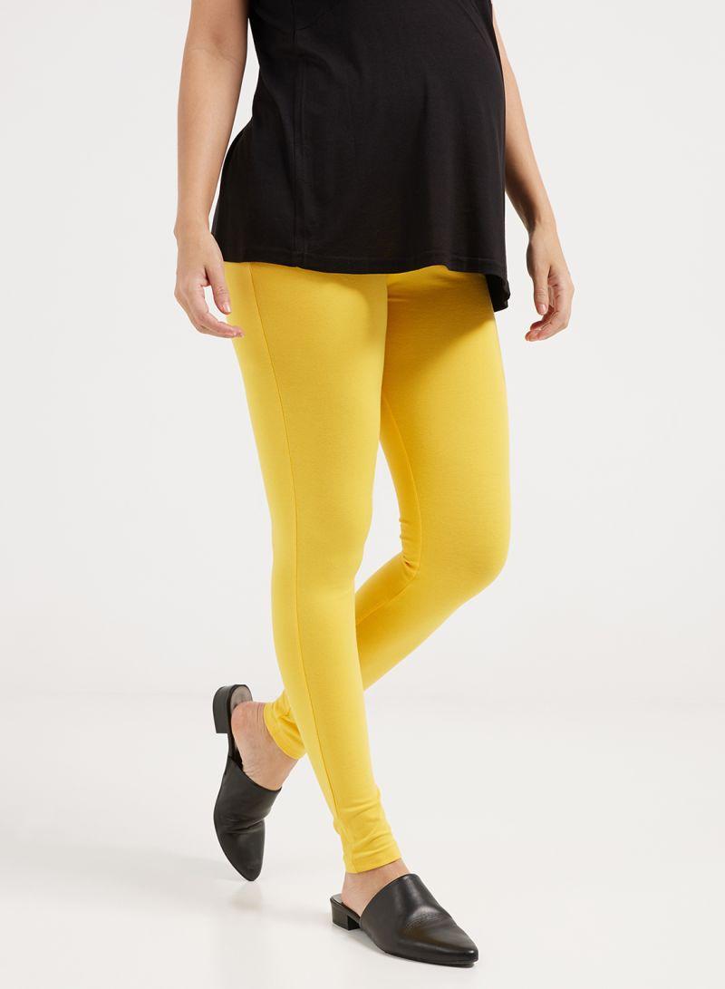 b05814e6d3781 Shop mother's nest Maternity Plain Leggings Yellow online in Dubai ...