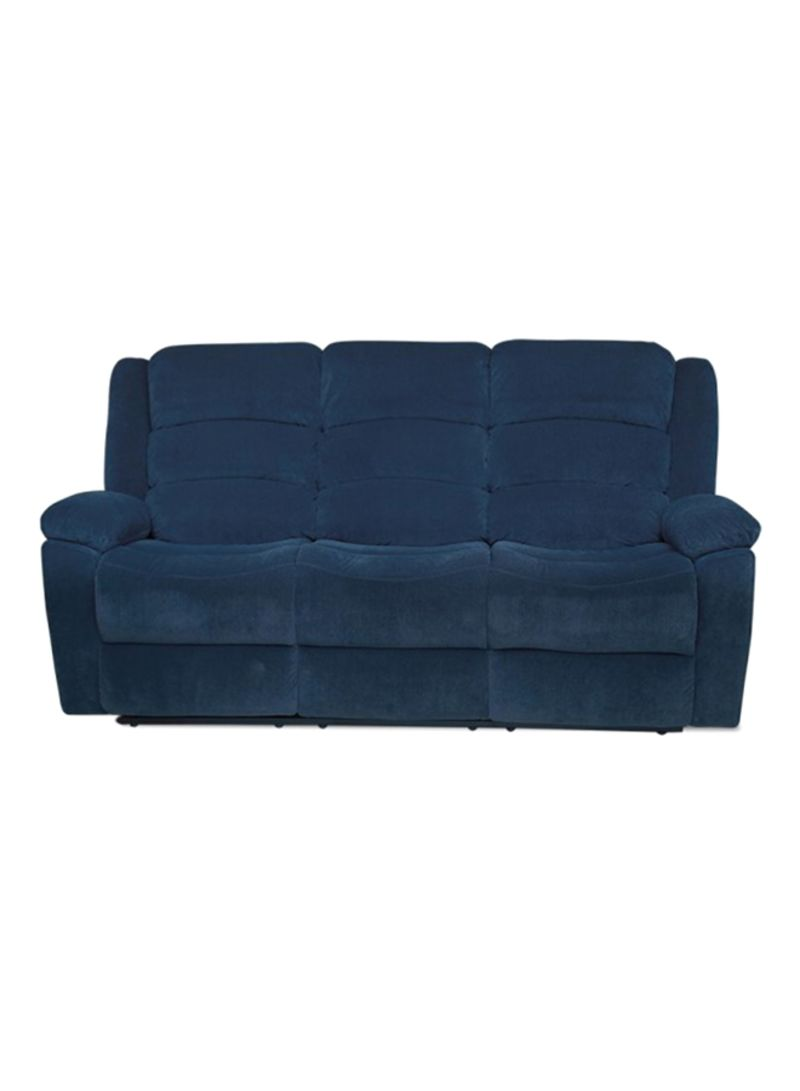 Shop Pan Emirates Glory 3 Seater Recliner Sofa Blue Online In Dubai
