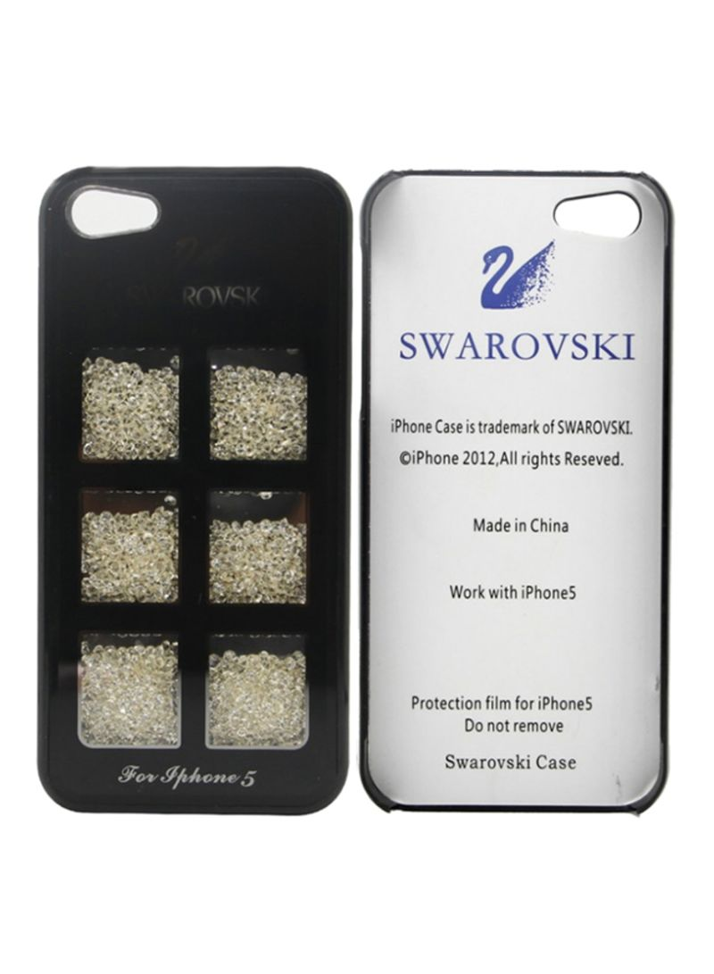 9f75648a6563 Shop SWAROVSKI Protective Case Cover For Apple iPhone 5 5S 5C Black ...
