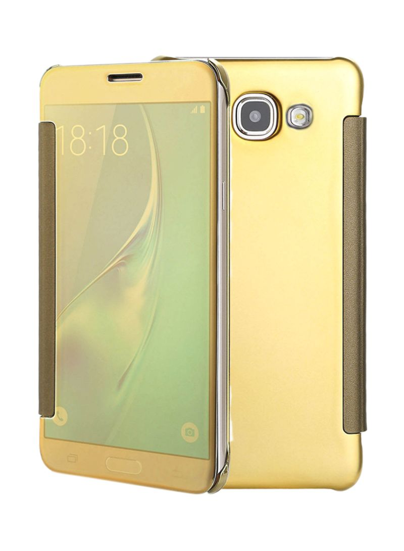buy popular 281d4 b3baf Shop MARGOUN Smart Clear View Mirror Flip Case Cover For Samsung Galaxy A5  (2017) Gold online in Dubai, Abu Dhabi and all UAE
