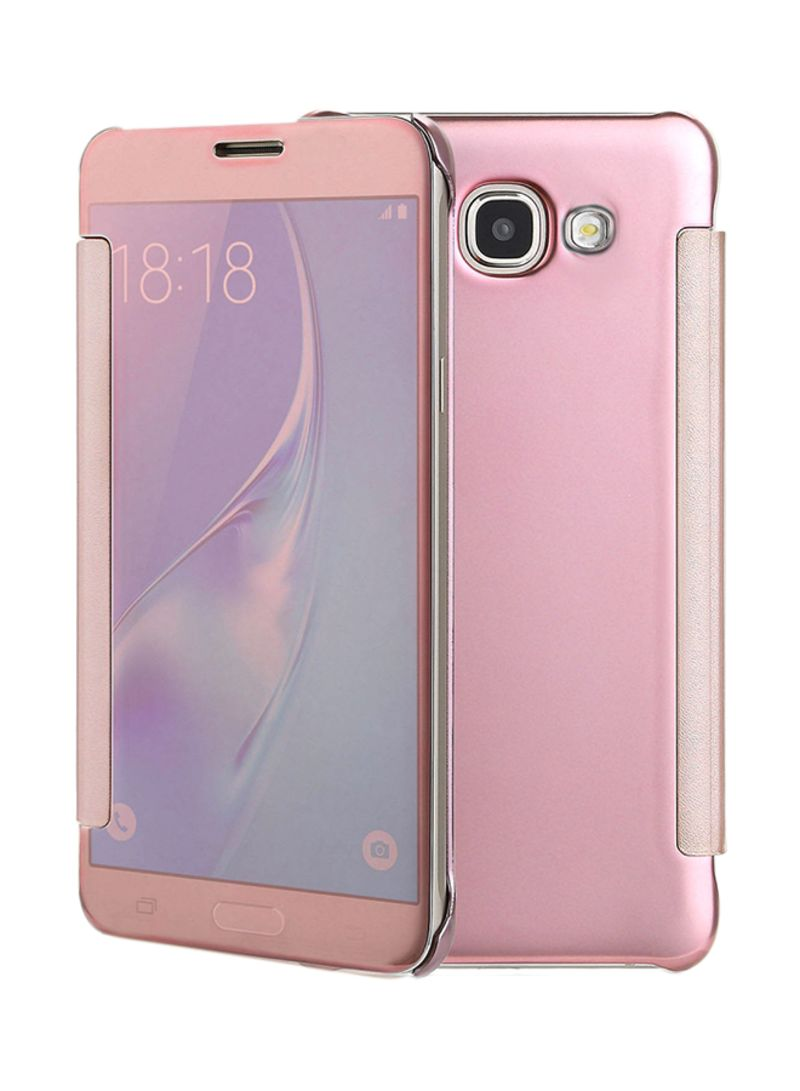 Smart Clear View Mirror Flip Case Cover For Samsung Galaxy A7 (2017) Rose Gold