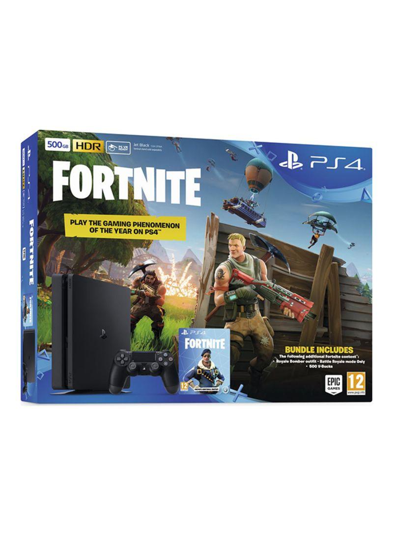 68753259ccbd2 Shop Sony PlayStation 4 Slim 500 GB Console With Fortnite Battle ...
