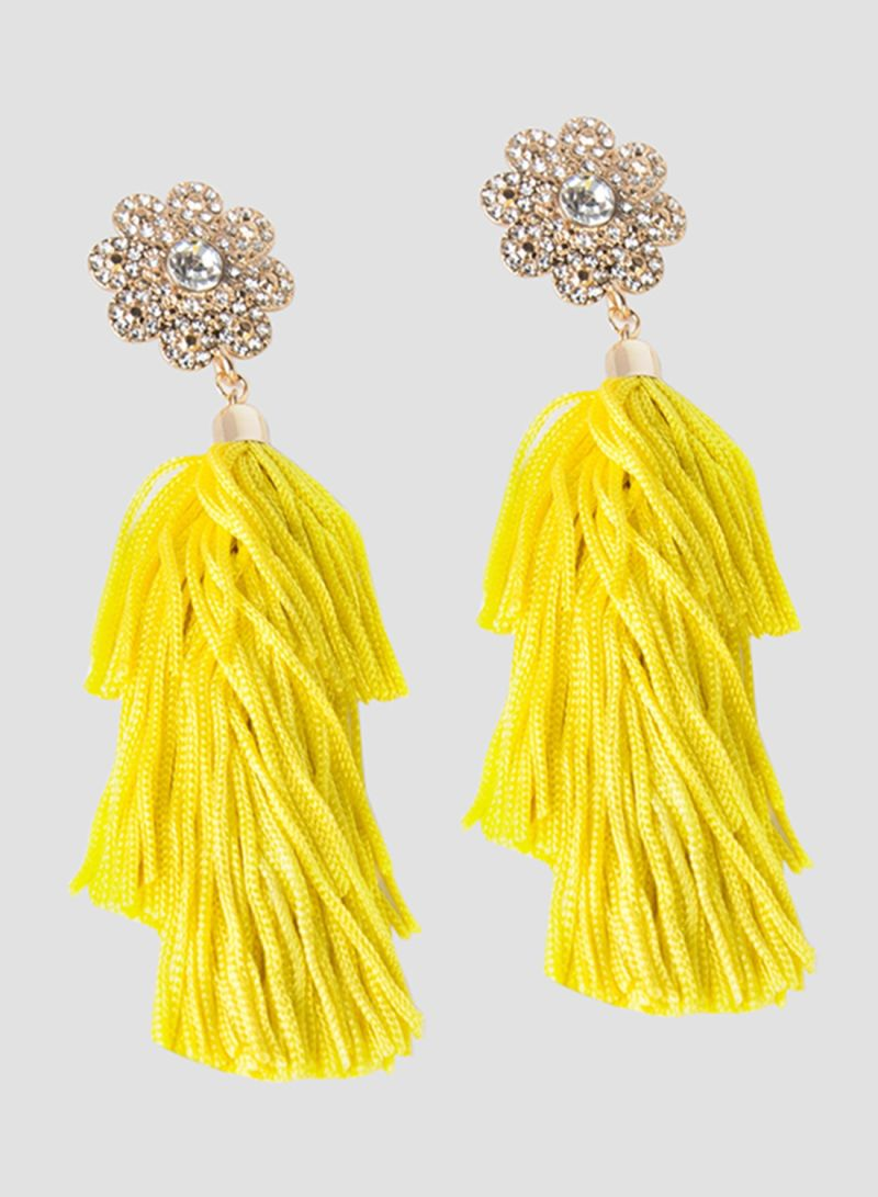 1d2a1892a Shop Forever 21 Rhinestone Tassel Drop Earrings online in Dubai, Abu ...