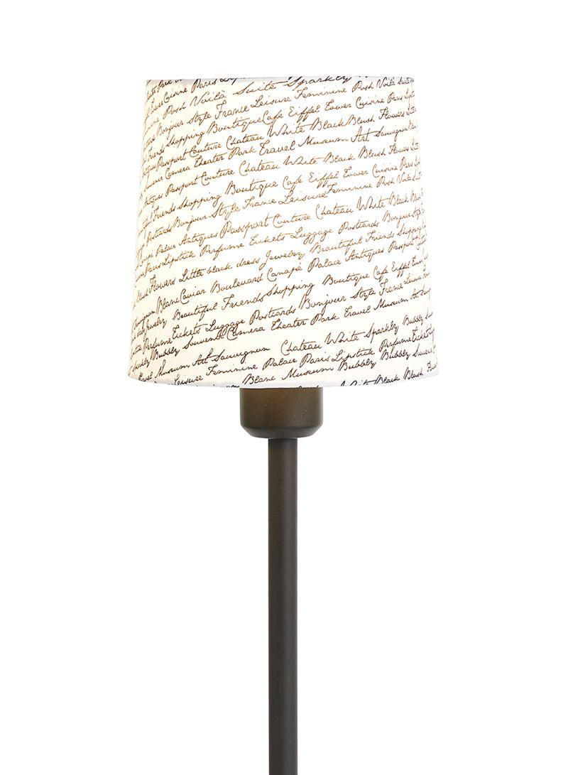 Shop Home&Deco Writings Printed Lamp Shade Black/White 13 centimeter