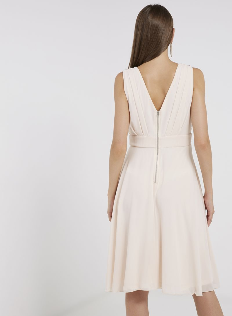 1c39289da0b Shop TFNC London Dalona Flare Midi Dress Nude online in Dubai