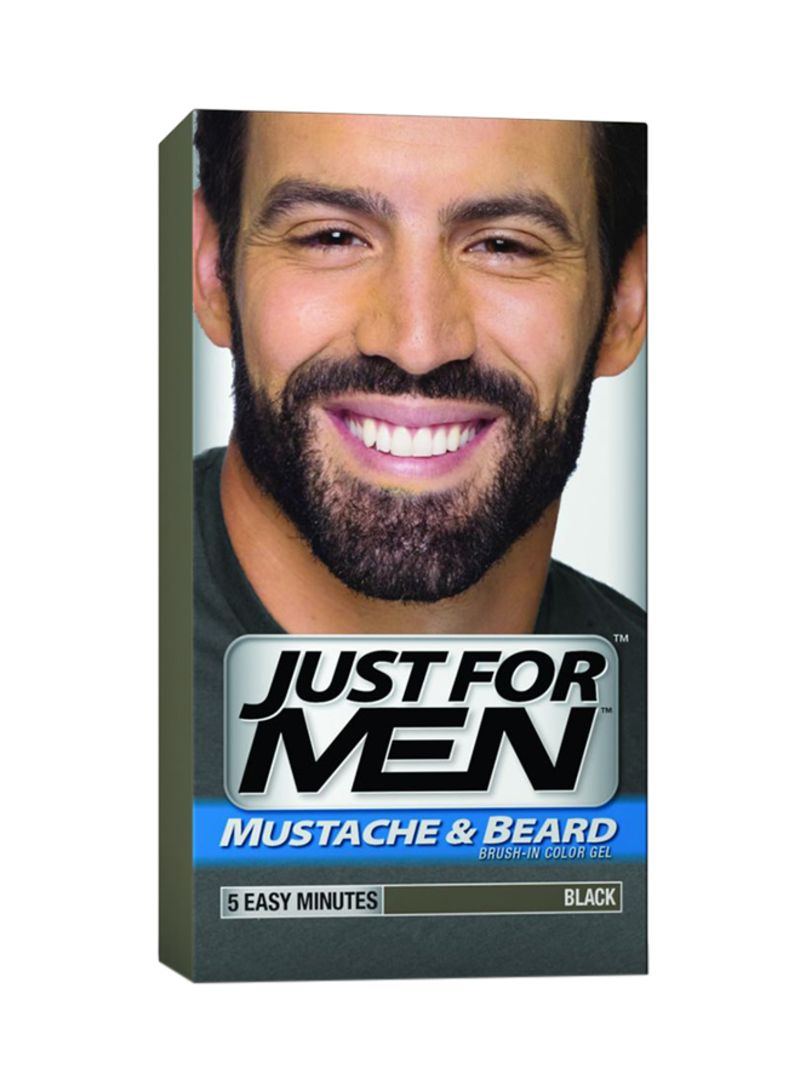 Shop Just For Men Mustache And Beard Brush-In Colour Gel Black online in  Dubai, Abu Dhabi and all UAE