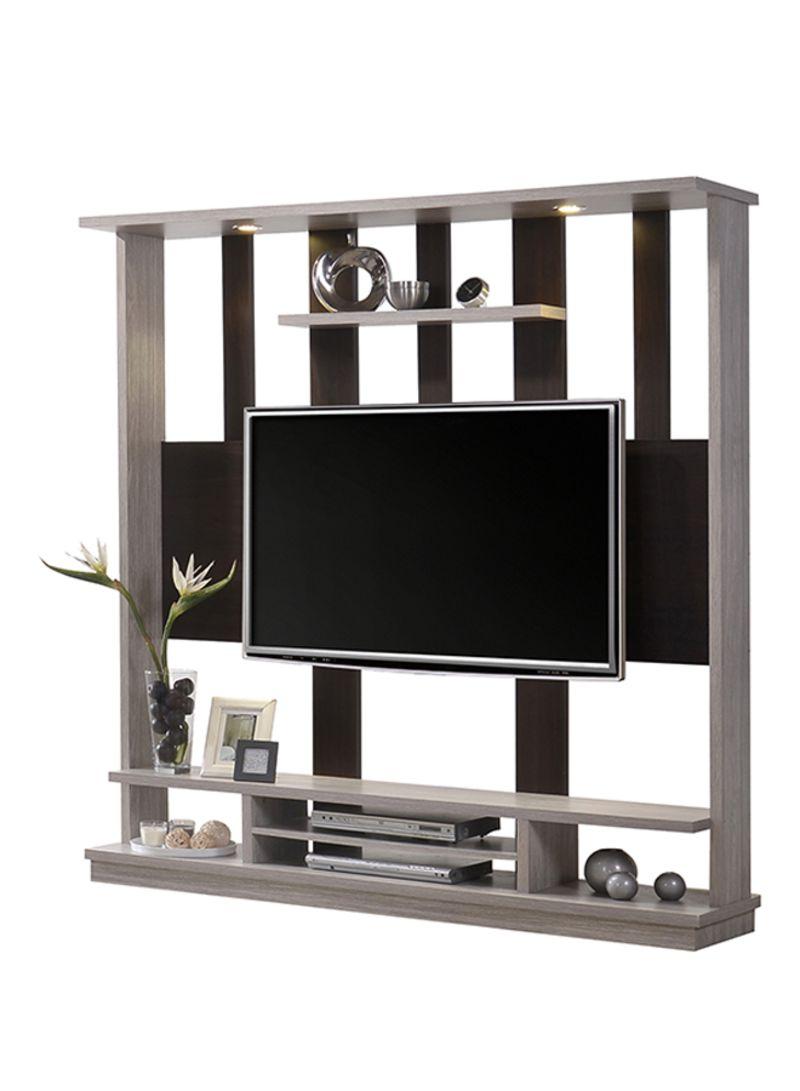 Shop Sahaba Hall TV Cabinet Grey Brown 92 Kg Online In Dubai Abu