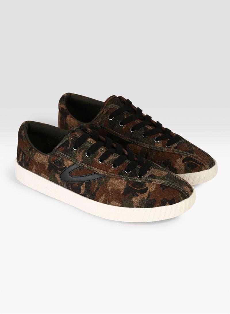 Camo Print Nylite Plus Sneakers Brown