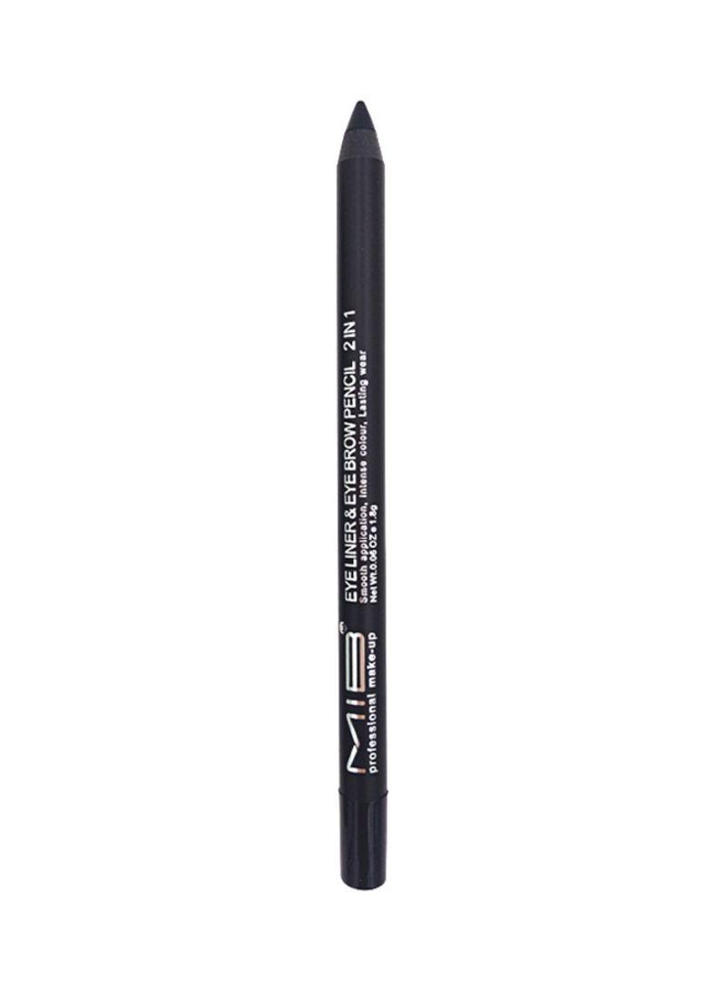تسوق Mib وقلم 2 في 1 لرسم الحواجب وتحديد العيون أسود أونلاين في الإمارات