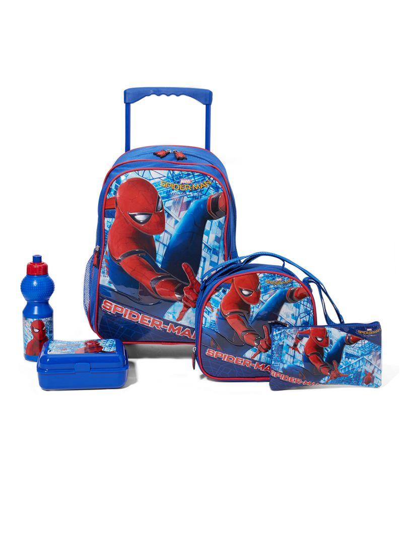 214913682280a تسوق شو إكسبريس ومجموعة حقائب مدرسية بعجلات بتصميم سبايدرمان سيتي ...