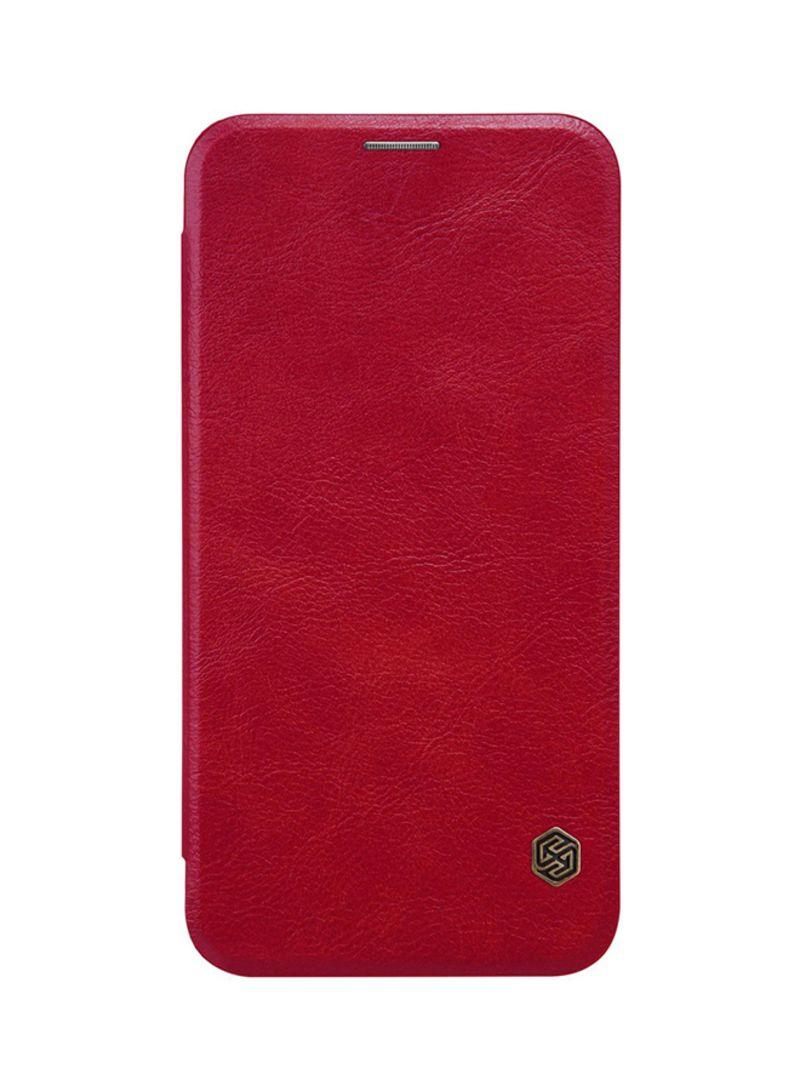Shop Nillkin Leather Qin Flip Cover For LG V30 Red online in Dubai