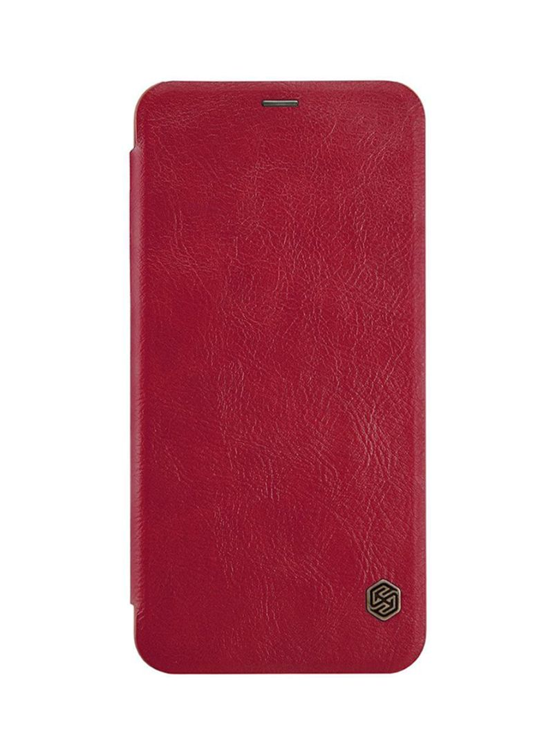 lowest price a8f6c 6c610 Shop Nillkin Leather Qin Series Flip Cover For OnePlus 5T Red online in  Dubai, Abu Dhabi and all UAE