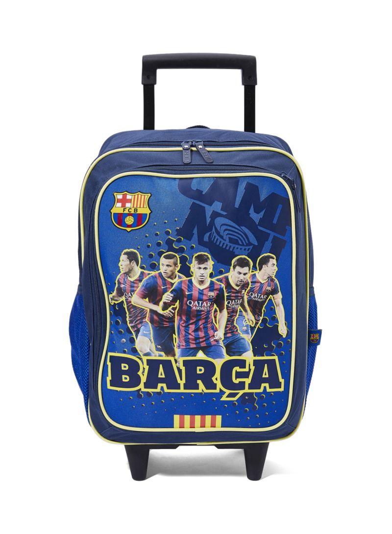 69256c8295657 تسوق اف سي برشلونة وحقيبة ظهر بعجلات مزينة بطباعة صور لاعبي نادي ...