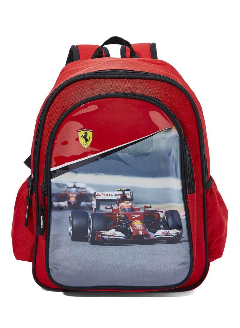 d8a784b725 Shop Ferrari Polyester Zipper Closure Maranello Kid's Backpack ...
