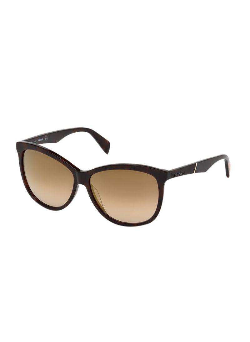 879de15717 Shop DIESEL Women s UV Protected Wayfarer Sunglasses DL022152G59 ...