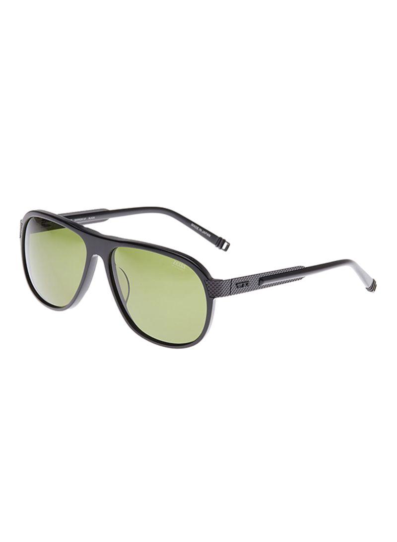 1868dfc38cc24 Shop Tumi Men s UV Protection Aviator Sunglasses TUBARR-BLA online ...