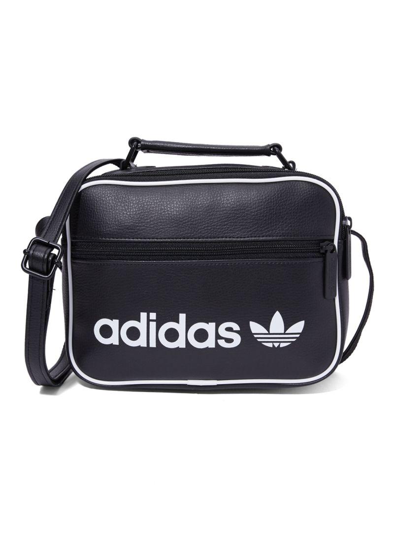 4cab92b8f481 Shop adidas Originals Mini Airliner Vintage Shoulder Bag Black White ...