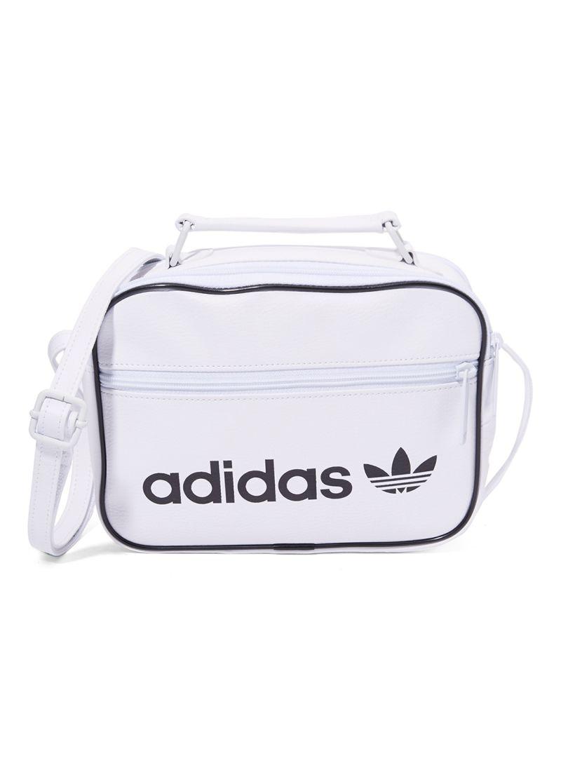 3901a8aa347d Shop adidas Originals Mini Airliner Vintage Shoulder Bag White ...