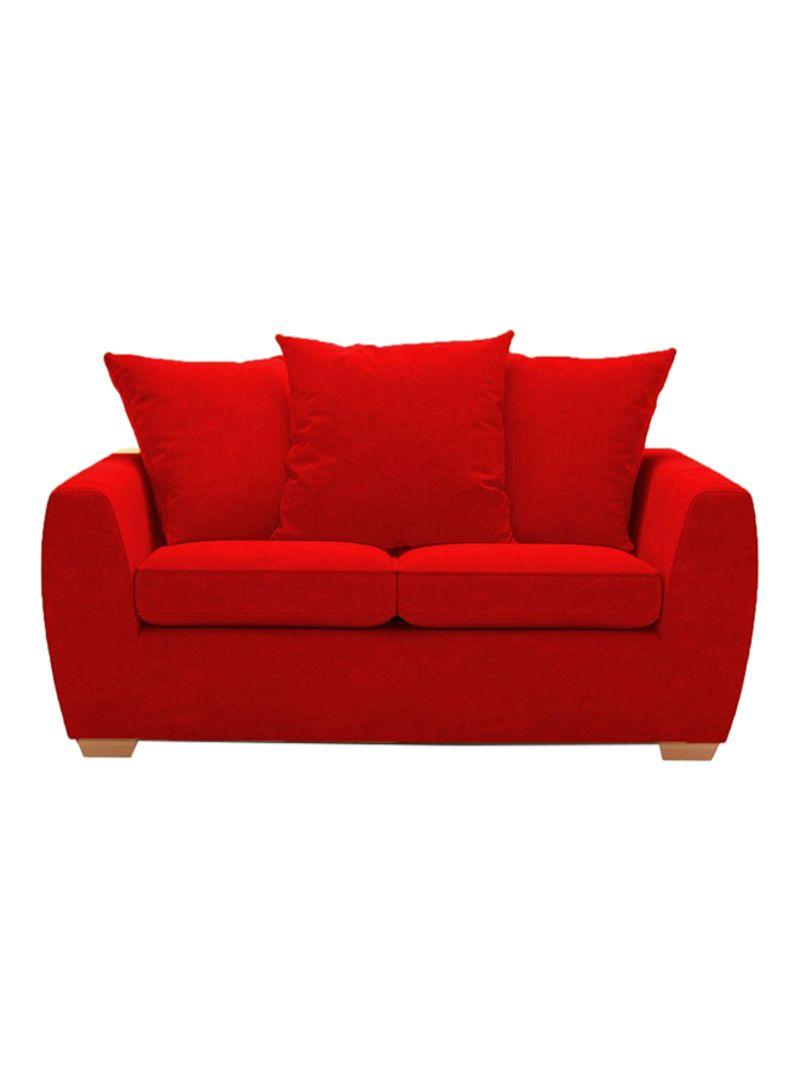 Shop Galaxy Design 2-Seater Sofa Red 90x90x160 centimeter ...