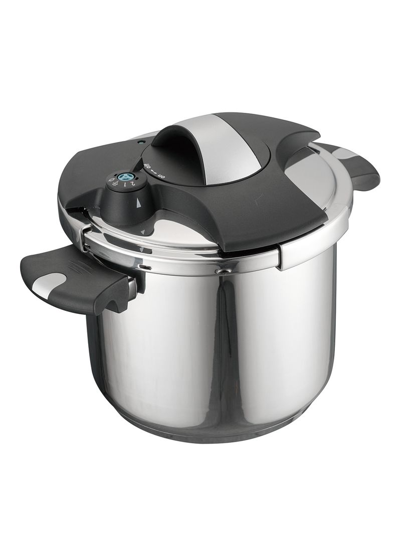 Shop Luxury Living Stainless Steel Pressure Cooker Silver