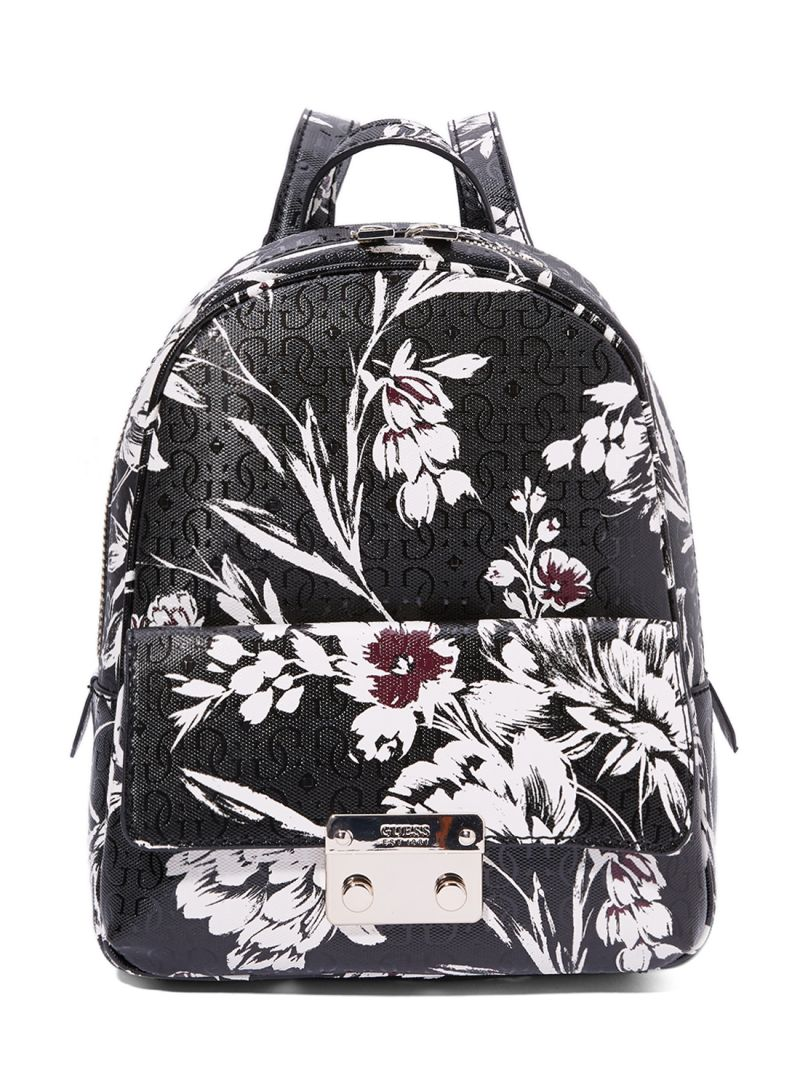 960aa9c53f otherOffersImg v1535374426 N16417971A 1. GUESS. Floral Printed Tamra Small  Backpack Black