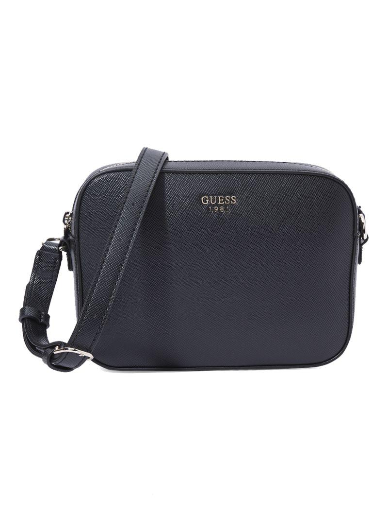Shop GUESS Kamryn Top Zip Crossbody Bag Black online in Dubai