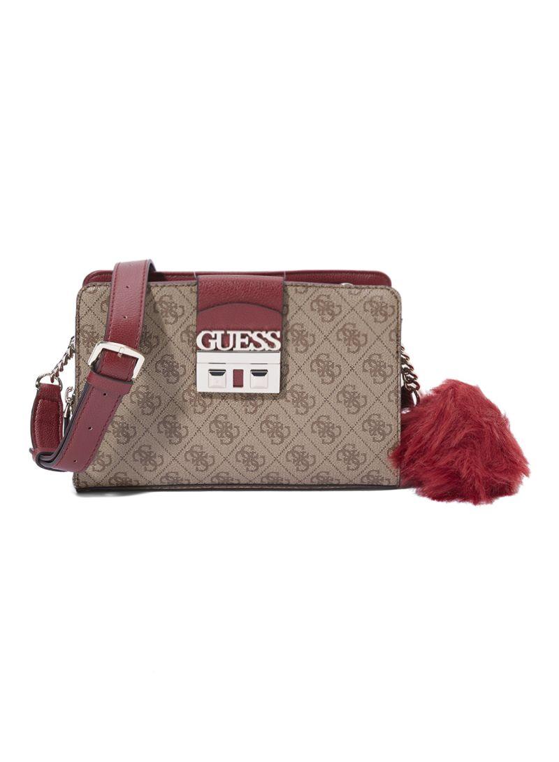 otherOffersImg v1535458918 N16417949A 1. GUESS. Logo Luxe Girlfriend Crossbody  Bag Brown 4e37093280