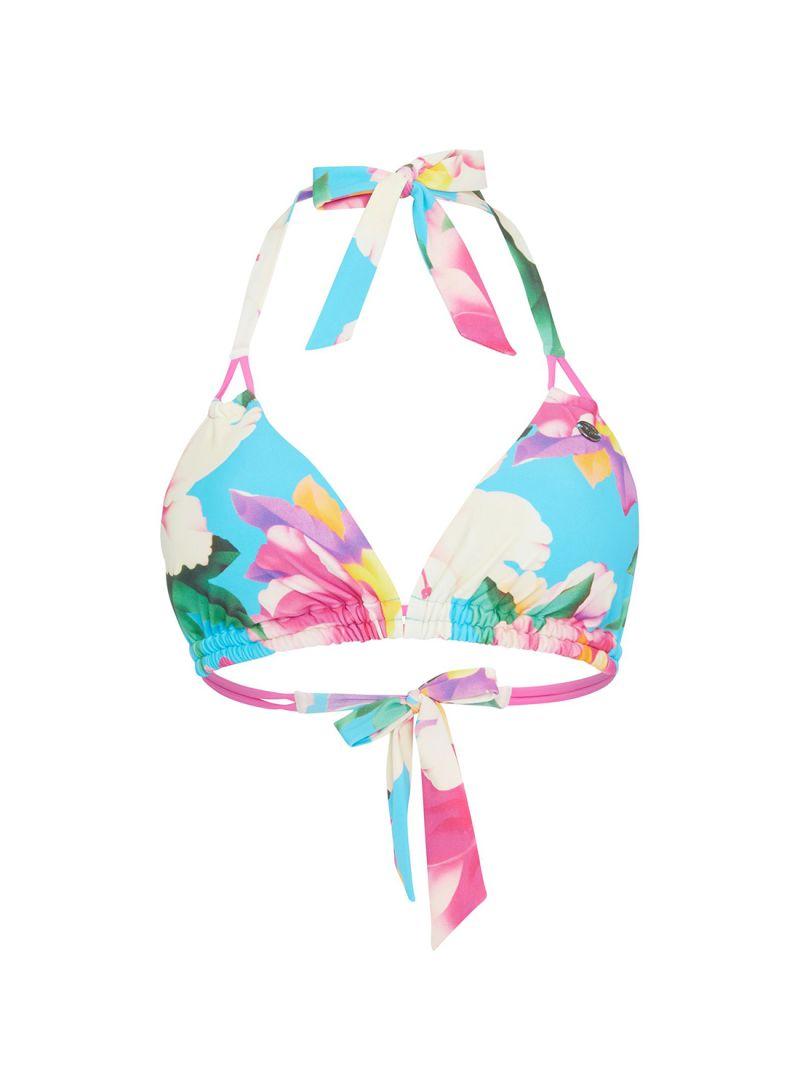 dc9217a3ef Shop Debenhams Mantaray Floral Print Hibi Halterneck Bikini Top ...