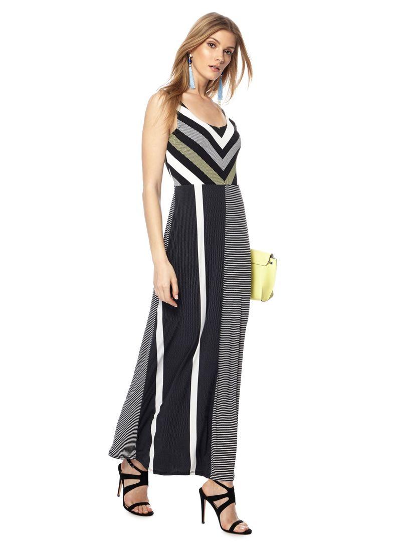 8cc7a14a2c Shop Debenhams Principles Striped Maxi Dress Black online in Riyadh ...