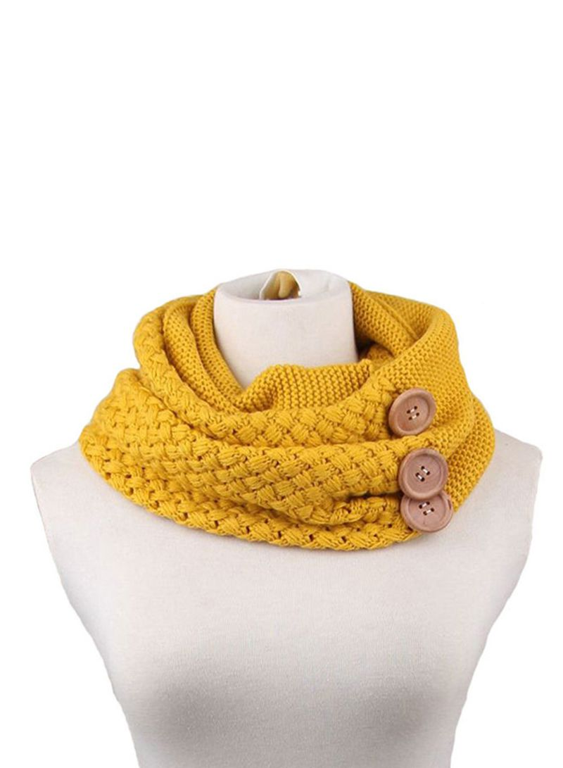 Shop Generic Warm Cable Knitted Cowl Neck Square Scarf Hl285 Yellow