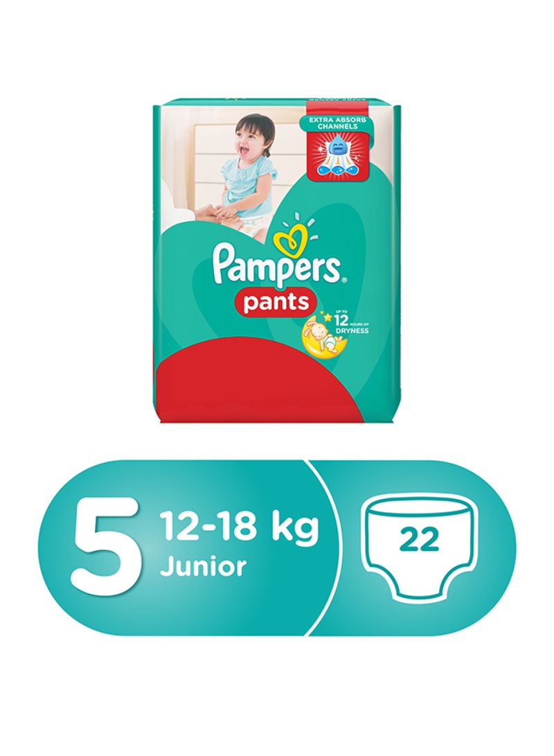 Pampers Pants Diapers Size 5 Carry Pack 12 18 Kg 22 Count Premium Care New Born 52 Tape Buy Junior