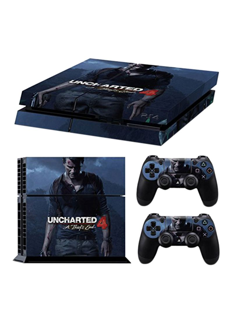 Shop Uncharted 4 Theme Skin Sticker Cover For Ps4 Console And