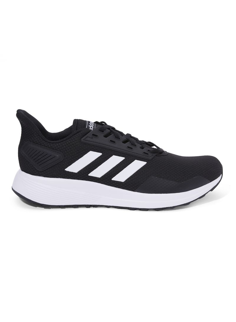 adidas Duramo 9 Mens Trainers Cushioned Running Shoes Black White